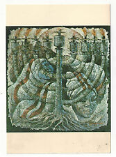 Haitian Painter Laurenceau Menorah Haiti Vtg Naders Art Gallery Postcard 4X6