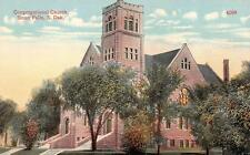 Sioux Falls, South Dakota Congregational Church c1910's Postcard
