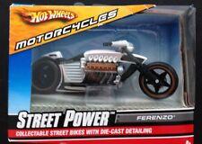 Hot Wheels STREET POWER 1/18 Diecast Motorcycle/Bike: FERENZO (#N4258; 2008).