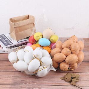20pcs 4*6cm Easter Eggs Decor Painted Bird Pigeon Eggs DIY Craft Kids Fa MJ