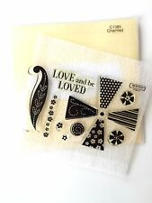 CTMH C1385-pinwheel-flowers-love-clear Stamps Acrylic-Close My Heart Acrylic Set
