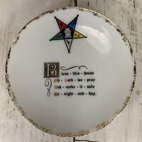 Vintage Shriner Masonic Ceramic Bless This House Plate Freemason Religious