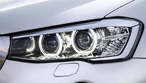 BMW OEM F25 X3 2015-17 F26 X4 EURO Spec Clear Corner Xenon Headlight Assemblies