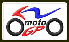 "MOTO GP EMBROIDERED PATCH ~4-3/4"" x 2-3/4"" MOTORCYCLE BORDADO PARCHE AUFNÄHER"