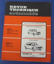 Revue technique automobile RTA 394 Renault 14 TS R 1221 & R 1212