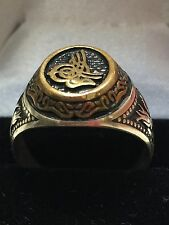 Turkish Handmade Ottoman Style 925 Sterling Silver Tugra Desing Men's Ring