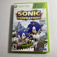 Sonic Generations Xbox 360 Microsoft Complete Video Game Free Shipping
