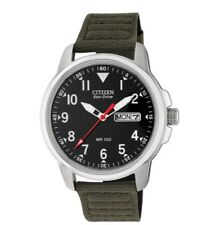 Citizen Men's Eco-Drive Military Style Canvas Strap Watch FREE Tracked Postage