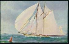 Germany hunter Ship Historical Sail boat original old 1920s postcard