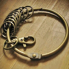 Large Retro Vintage Alloy Key Rings Bronze Round Keychain Holder Gifts Decor