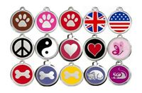 Médaille acier RED DINGO gravée pour chien - 3 tailles 15 motifs