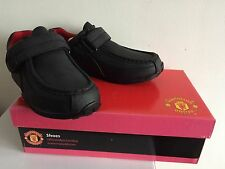 New Official Man Utd Football Club Back to School Shoes Size UK 4 (EU 37) Black