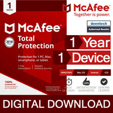 McAfee Total Protection 2018 (1PC/1Year) Antivirus & Internet PC/Mac/Android/iOS