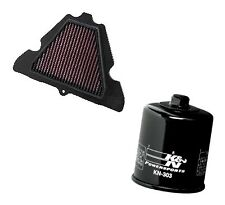 K&N Air Filter KA-1111 + Oil Filter Chrome KN-303 Combo
