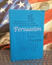 NEW Persuasion by Jane Austen Bonded Leather Softcover Word Cloud Edition