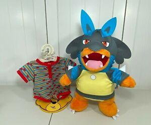 "💜 Build a Bear Pokemon CHARMANDER 16"" w/ NEW Lucario Hoodie Sleeper & Sound 💜"