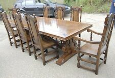 Farmhouse Table and Chairs - French Refectory Table William and Mary Diners