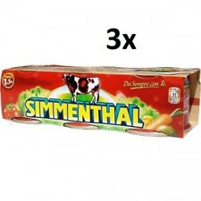 9x SIMMENTHAL beef meat in aspic 3x 90g 100% Italian meat