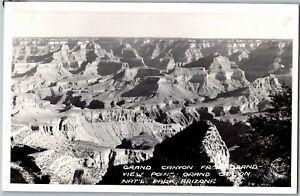 RPPC Grand Canyon from Grand View Point, Nat'l Park AZ Vintage Postcard X37