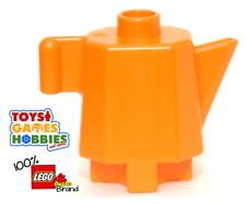 *NEW* LEGO DUPLO Orang Teapot Tea Coffee Pot House family Kitchen Table Food Eat