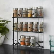 3 Tier Spice Rack Herb Jar Holder Stand Organiser Shelf Free Standing/Wall Mount