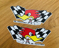 HORSEPOWER 2 Stück Aufkleber Sticker Roadrunner Hot Rod PinUp Punk Rock NOS-0007