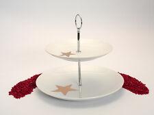 PPD Etagere Etagère Porzellan Star Fashion mit echter Goldaufage - 2 Etagen