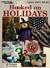 Hooked on Christmas & Holidays Crochet Pattern Book Fun Designs Santa Tree Bell