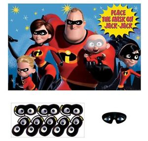 Disney Pixar Incredibles 2 Superhero Birthday Poster 8 Player Party Game Set