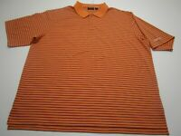 Walter Hagen Golf Polo Shirt Adult 2XL XXL Orange Striped Golfer Short Sleeve