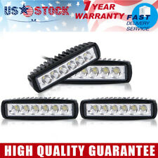 4x 6inch Off Road 18W Slim LED Light Bar Fog Lamp Work Light For Truck UTV ATV