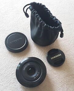 Samsung EX-S30NB 30mm f/2.0 Black Prime Lens Samsung NX Series TOP CONDITION no2