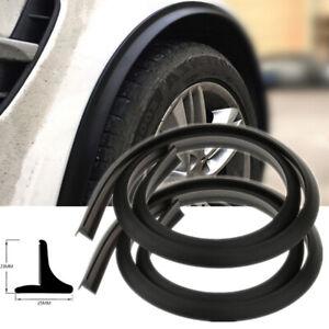 2PCS Universal Car Wheel Fender Extension Moulding Flares Trim Strip Stick 1.5M