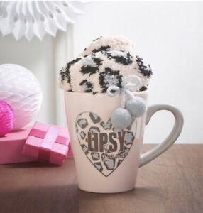 AVON Pink Leopard Print Lipsy Mug & Sock Gift Set. New Gift Christmas
