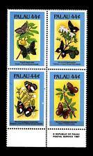 PALAU - 1987 - Flora e fauna. Farfalle e fiori (I) - (F)