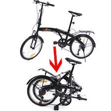20 Pulgadas Bicicleta Plegable Portátil Negro Adulto Ciclismo Aire Libre Deporte