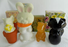 4 Vintage Avon Colognes * Sweet Honesty Sniffy Chipmunk Fuzzy Flower Mouse