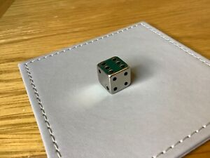Silver Plated Miniature Dice With Pouch