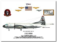 P-3C Orion of the VP-46 Grey Knights, US Navy Patrol Aircraft profile data print