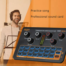 Broadcast Live Sound Card Q8 Audio External USB Headset Mic for Mobile Phone PC