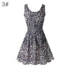 Women Summer Vintage Sleeveless Tank Casual Party Evening Cocktail  Dress -3