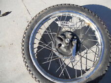 1980 HONDA XL80 FRONT WHEEL. MILES 2244. #1013