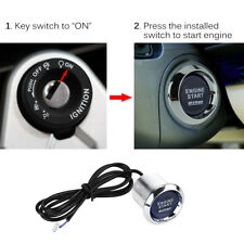 Blue LED Light Car Engine Start Stop Button Switch Ignition Starter Relay Box