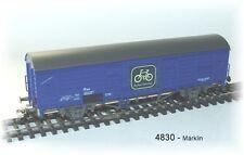 Märklin 4830 - Vagón De Carga Cerrado azul El Tren desplaza Rueda ÖBB