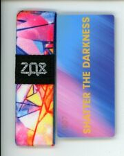Medium ZOX Silver Strap SHATTER THE DARKNESS Wristband with Card Reversible