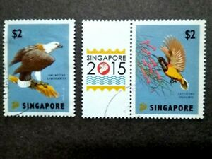 Singapore 2015 Singapore Exhibition Birds Complete Set - 2v Used #3