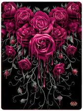 Spiral Direct BLOOD ROSE Fleece Blanket Bedding/Blood/Gothic/Roses/Gift/Throw
