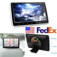 "10.1"" Car LCD Headrest Monitor DVD Player Touch Button USB HDMI FM Game USA Ship"