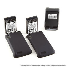 2 x 3500mAh Extended Battery for Motorola Atrix 4G MB860 Cover Dock Charger