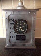WW2 RAF Avro Lancaster 1943 350 Knot ASI Pilots Instrument in Edison Lamp